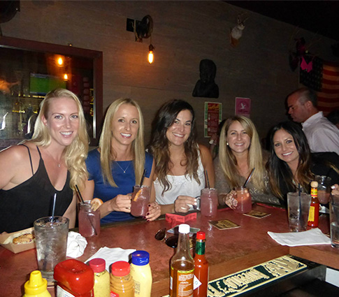 Girls at bar